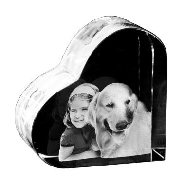 3D Portrait in Herz-Glas