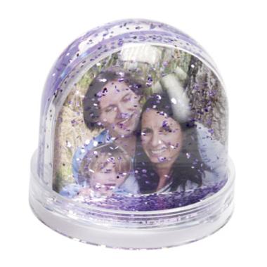 Schneekugel mit Foto und Glitter - 9315