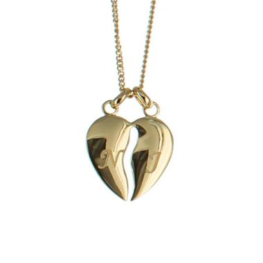 Halsband trennbare Herzen