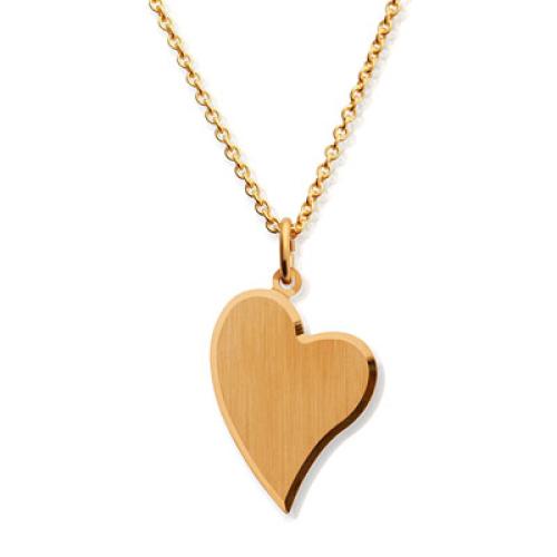 Anhänger Herz vergoldet - 8779