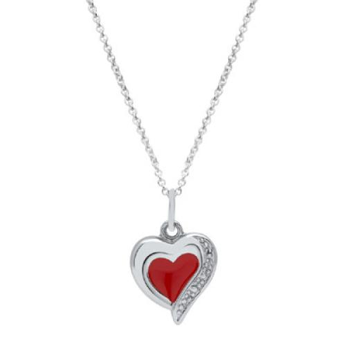 Anhänger Silber Herz mit Gravur  - 9242