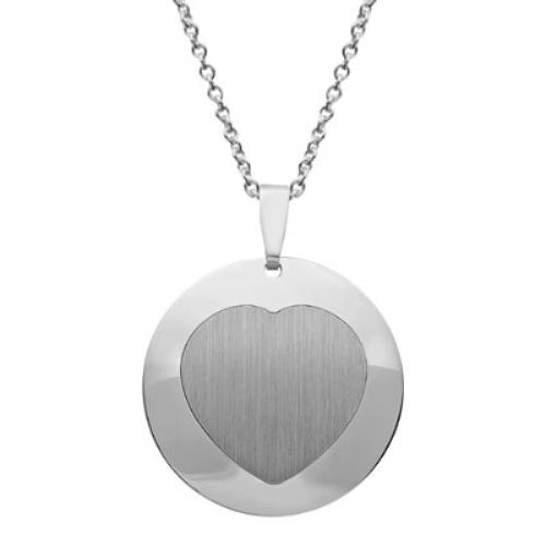 Anhänger Silber Herz mit Gravur  - 9205