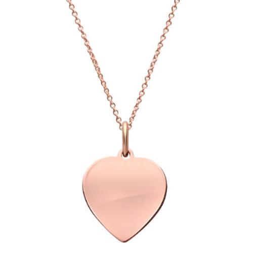 Anhänger Silber Herz mit Gravur  - 9219
