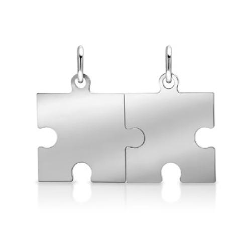 Anhänger Silber Puzzle mit Gravur  - 9235