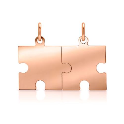 Anhänger Silber Puzzle mit Gravur  - 9237