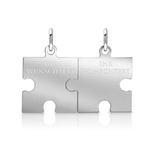 Anhänger Silber Puzzle mit Gravur  - 9375