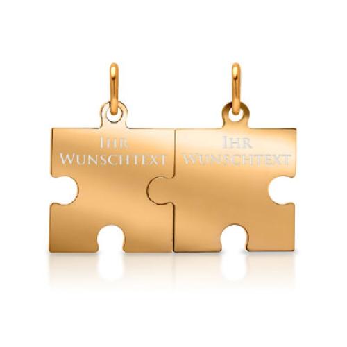 Anhänger Silber Puzzle mit Gravur  - 9376