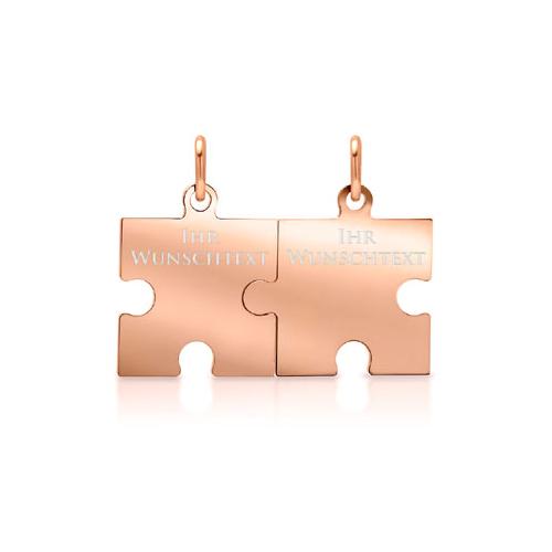 Anhänger Silber Puzzle mit Gravur  - 9377