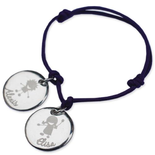 Armband Elisa mit Gravur silber