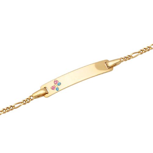 Goldarmband mit Gravurplatte - 9382