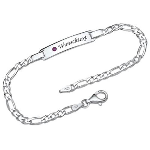 Silberarmband mit Gravurplatte - 9179