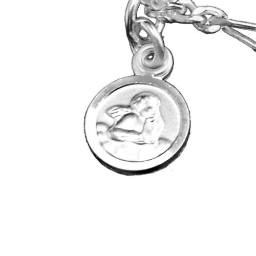 Kinderarmband Silber mit Schutzengel und Gravur - 9493