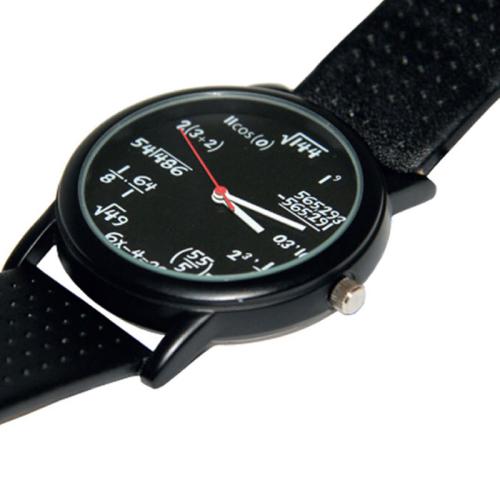 Armbanduhr mit Matheaufgaben