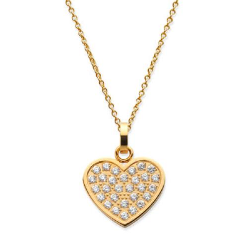 Anhänger Herz vergoldet mit Gravur - 8936