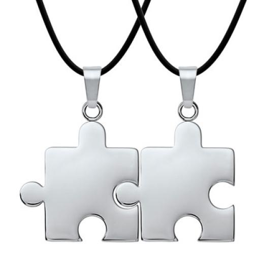 Anhänger Puzzle mit Gravur - 8933