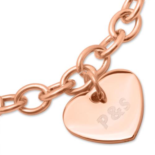Armband mit Herzanhänger - 9457