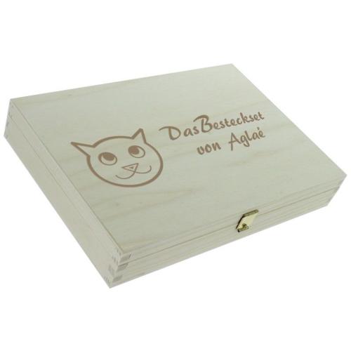 Personalisiertes Kinderbesteck-Set - Katzen