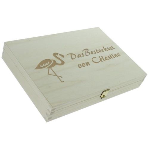 Personalisiertes Kinderbesteck-Set - Flamingo