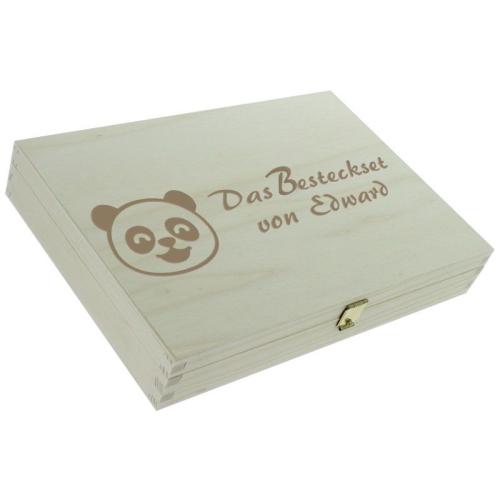 Personalisiertes Kinderbesteck-Set - Panda