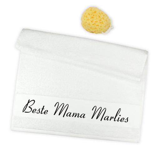 Handtuch 2er Set beste Mama mit Namen