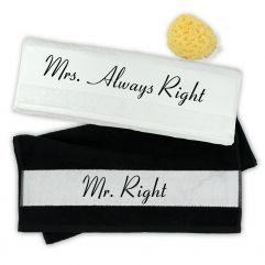 Handtuch 2er Set Mr. Right & Mrs. Always Right