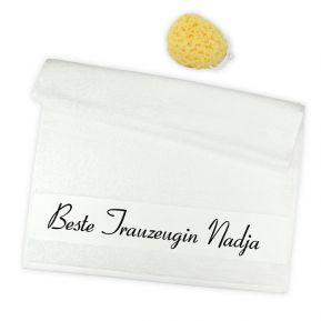Personalisiertes Handtuch beste Trauzeugin