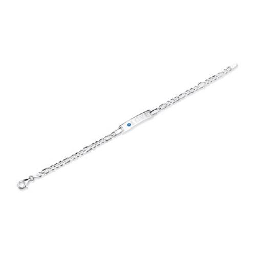 Armband Silber mit Zirkonia und Gravur