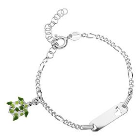 Kinderarmband Silber mit Gravur- 8483