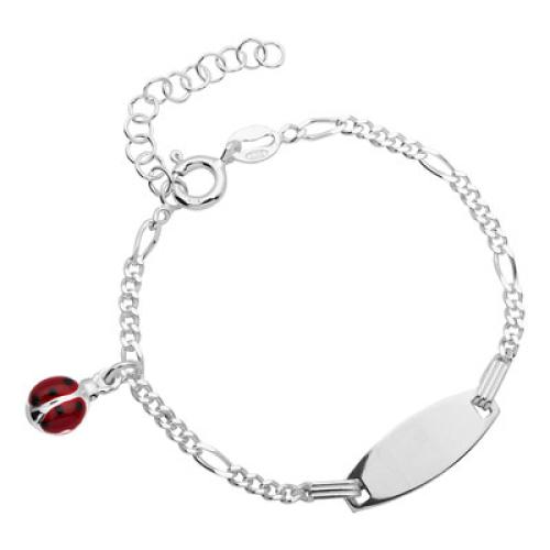 Kinderarmband Silber mit Gravur- 8485