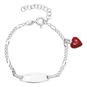 Kinderarmband Silber mit Gravur- 8486