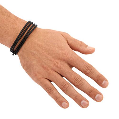 Armband Leder doppelt mit Gravur
