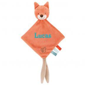 Kleines Schmusetuch Oscar der Fuchs mit Name