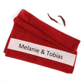 Partner Handtuch mit Namen