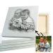 Porträt Stil Kohlezeichnung Kinder