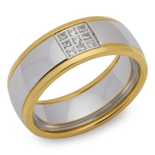 Ring Zirkonia mit Gravur 9184