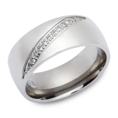 Ring Zirkonia mit Gravur 9191