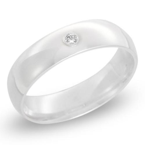 Ring Zirkonia Silber mit Gravur - 8500