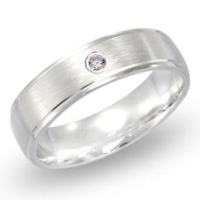 Ring Zirkonia Silber mit Gravur - 8505
