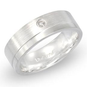 Ring Zirkonia Silber mit Gravur - 8507