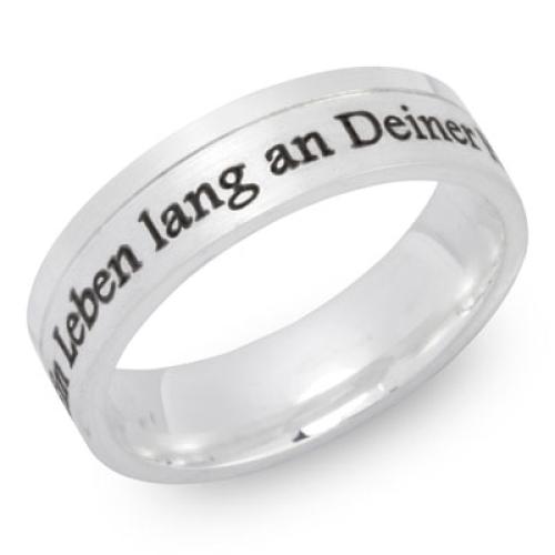 Ring Silber mit Gravur - 8507