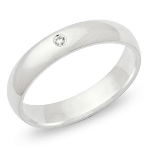 Ring Zirkonia Silber mit Gravur - 8538