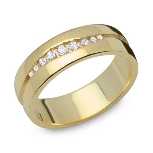 Ring Zirkonia Silber mit Gravur - 8549