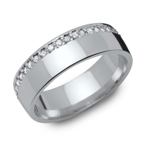 Ring Zirkonia Silber mit Gravur - 8552