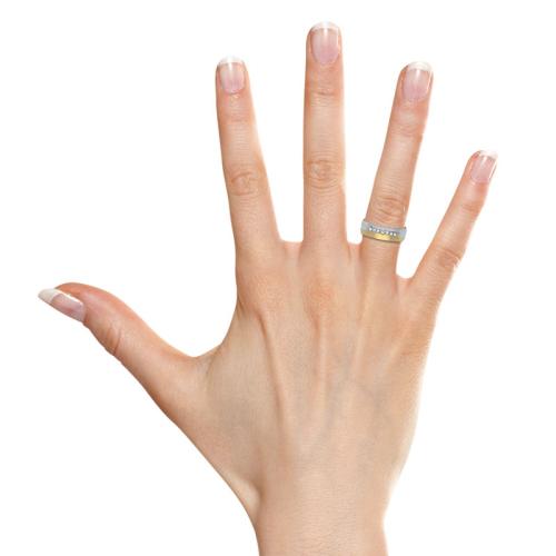 Ring Zirkonia Silber mit Gravur - 8556