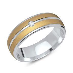 Ring Zirkonia Silber mit Gravur - 8559