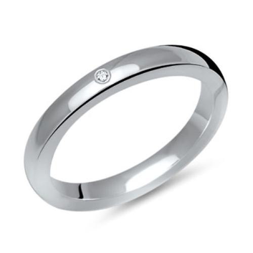 Ring Zirkonia Silber mit Gravur - 8563
