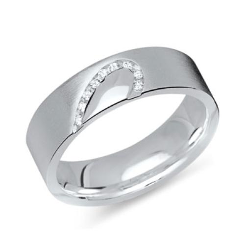 Ring Zirkonia Silber mit Gravur - 8564