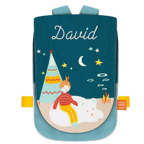 Rucksack für Kinder Eisbär personalisiert
