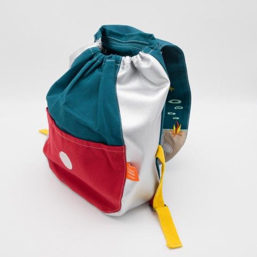 Rucksack für Kinder Eisbär offen
