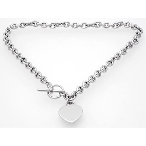 Silberkette Herz 1